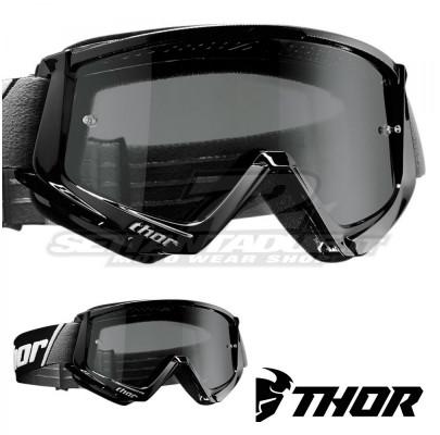 Очки кроссовые THOR Combat Sand Black/White Smoke Leans