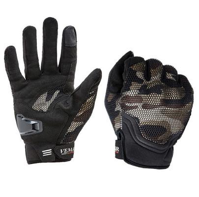 Мотоперчатки текстиль Vemar-173 (сетка камуфляж) L