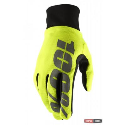 Мотоперчатки Эндуро RIDE 100% BRISKER Hydromatic Waterproof Yellow XL