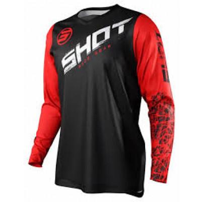 Джерси  Shot Racing Slam Line Red  (L)