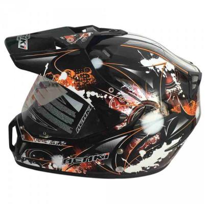Мотошлем Dual-sport Nenki MX-310 BLACK ORANGE L