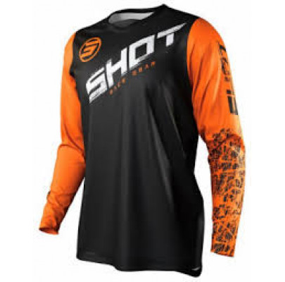 Джерси  Shot Racing Slam Line Orange  (XL)