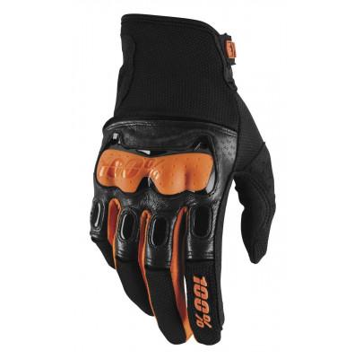 Мотоперчатки текстиль Ride 100% Derestricted Glove [Black/Orange] M