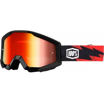 Очки кроссовые 100% STRATA Goggle Slash - Mirror dark Lens