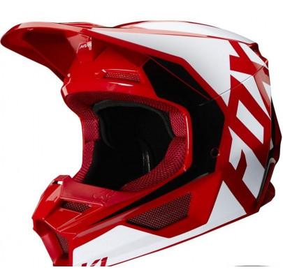 Мотошлем Кросс/Эндуро FOX V1 PRIX Flame Red (M)