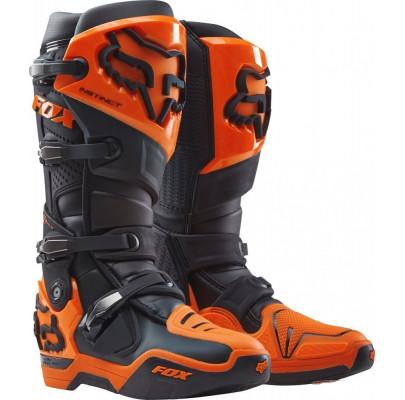 Мотоботы Кросс/Эндуро FOX Instinct Boot BLACK/ORANGE (Size:M13/48)