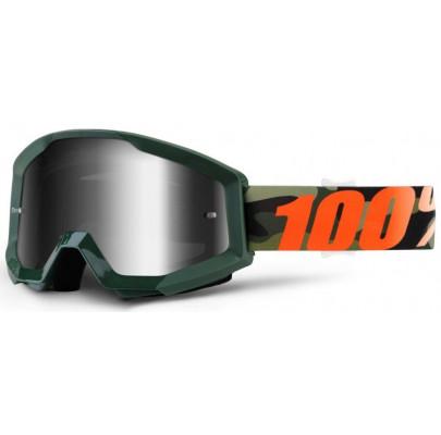 Очки кроссовые 100% STRATA Goggle Huntsitan - Clear Lens