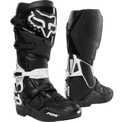 Мотоботы Кросс/Эндуро FOX Instinct Boot [BLACK/WHITE] (Size:M11/45)