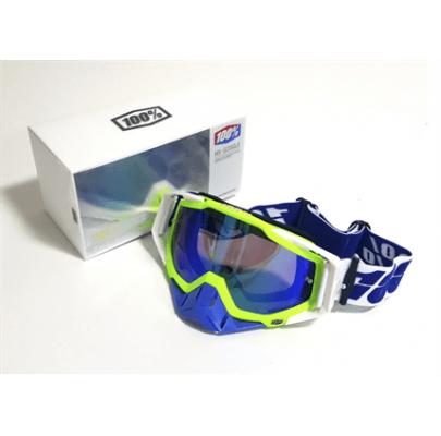 Очки кроссовые 100% Replica Green Blue Lens
