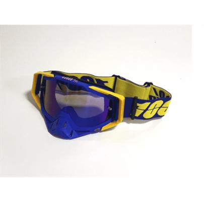 Очки кроссовые 100% Replica Blue-Yellow Blue Lens